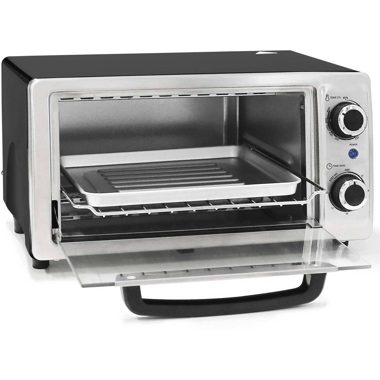 Elite Cuisine Elite Cuisine 4-Slice Stainless Steel Toaster Oven Broiler