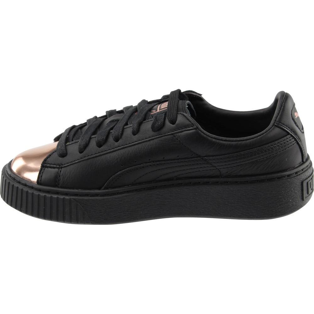 12405ff382e PUMA - Puma Basket Platform Metallic Women s Shoes Black Rose Gold 366169-02  - Walmart.com