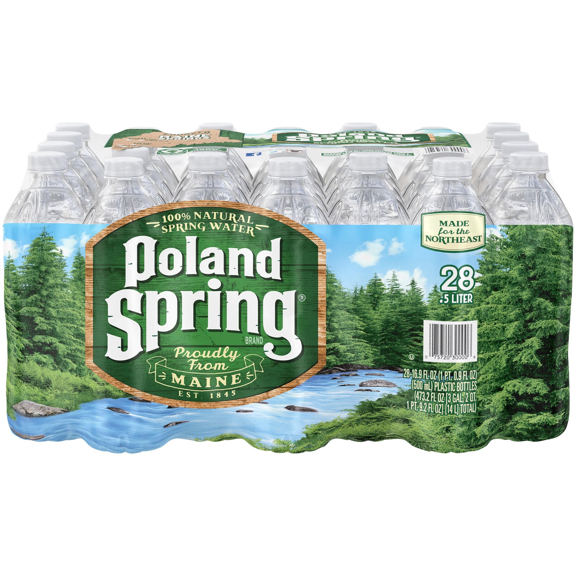 Poland Spring Natural Spring Water, 16.9 Fl. Oz., 28 Count