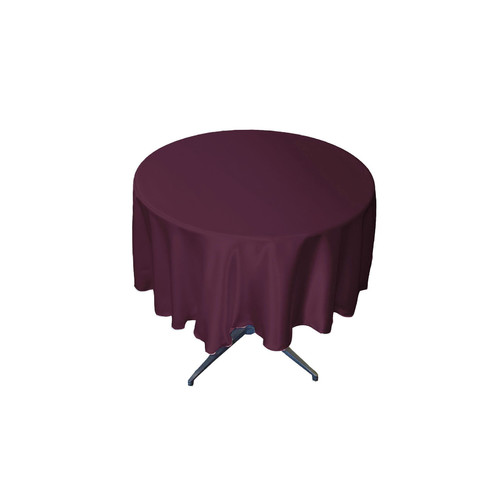 LA Linen Bridal Satin Round Tablecloth by LA Linen