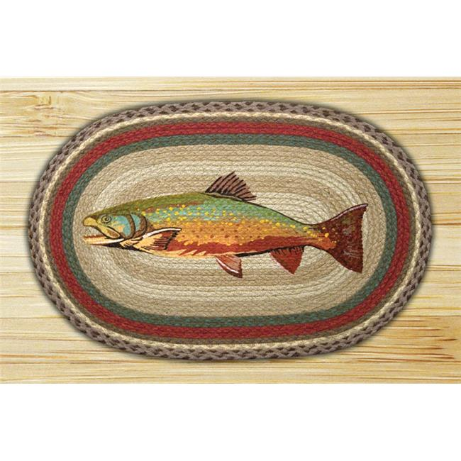 Capitol Importing 65-244T Trout - 20 inch x 30 inch Oval Patch