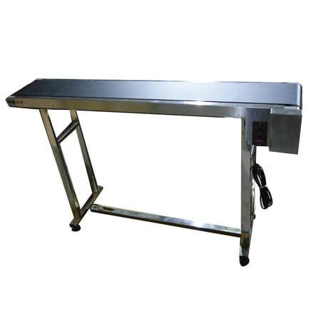 INTBUYING PVC Flat Conveyor Belt Systems for Transport No Guardrails  59
