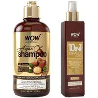 WOW Moroccan Argan Oil Shampoo (500ml) and 10in1 Hair Oil (200ml)