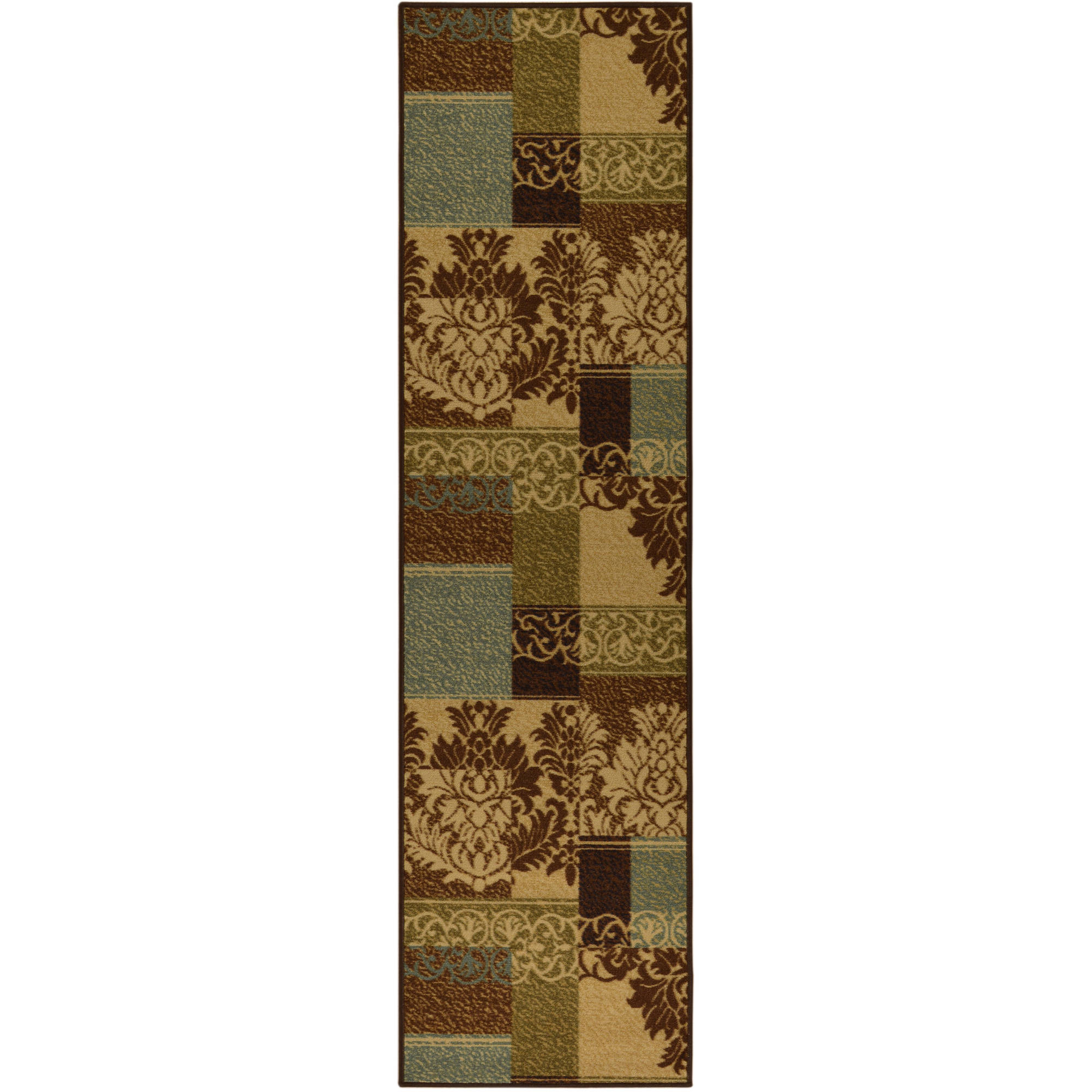 Ottomanson Ottohome Contemporary Non-Skid Damask Rugs, Brown