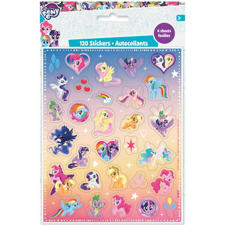 My Little Pony Sticker Sheets, 4ct - My Little Pony Stickers