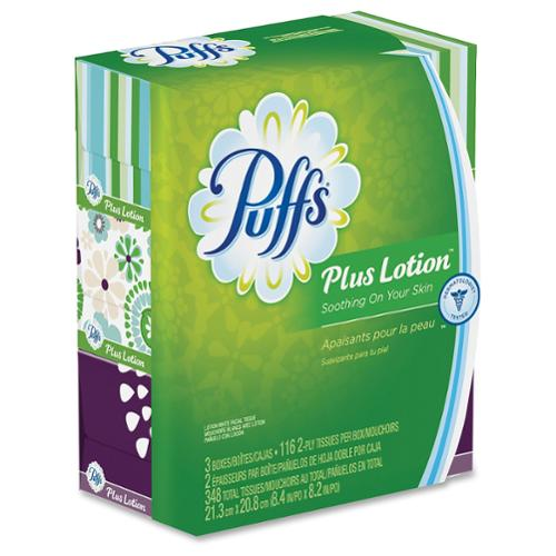 Puffs Plus Lotion Facial Tissues - 1 Carton - White (82086ct)