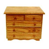 Furniture Barn USA™ Oak 5-Drawer Jewelry Chest