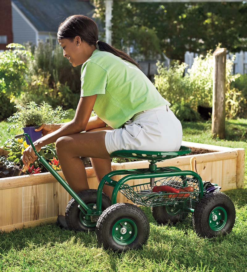 Scoot N Do Rolling Garden Seat   Gardening Wagon
