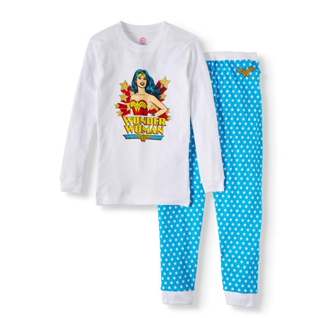 Dc Superhero Girls Toddler girls' wonder woman retro pajamas 2-piece set