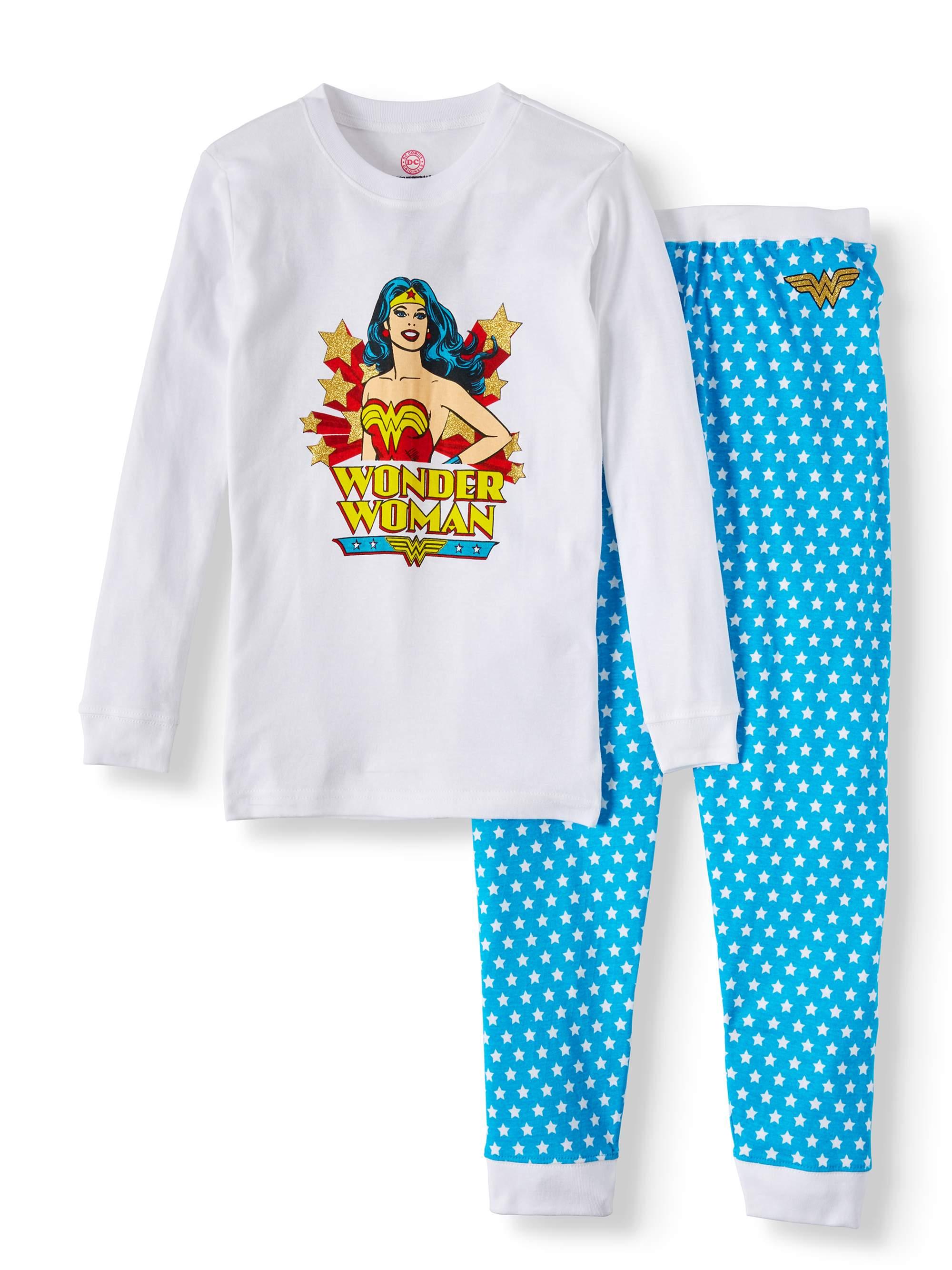 Toddler Girls' Wonder Woman Retro Pajamas 2-Piece Set