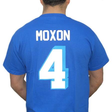 - Jonathan Moxon #4 Coyotes Jersey T-Shirt Varsity Blues Mox West Canaan