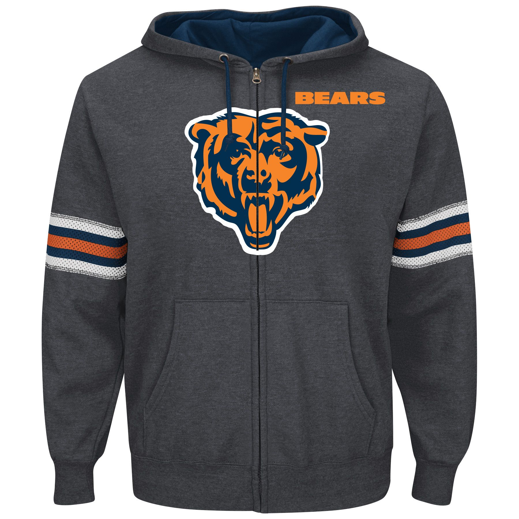 Chicago Bears Intimidating VI Men's Charcoal Hoodie