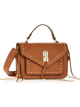 Product Image Metallic Sky Studded Crossbody With Fringe 9e78c9c14e325