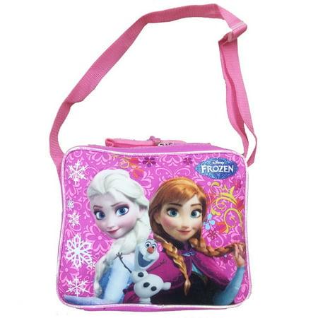 Lunch Bag - Disney - Frozen Princess Elsa+Anna Pink Kit Case New FCCOR22OM (Disney Frozen Lunch Box)