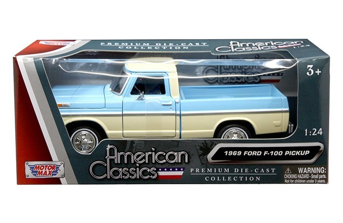 Ford F  Pickup Truck Light Blue And Cream  Cast Model