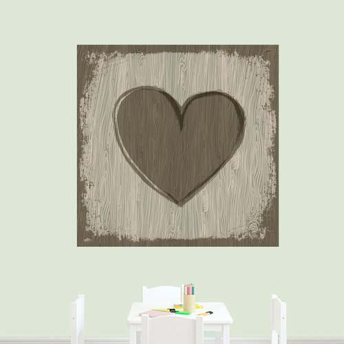 Winston Porter Applegate Wooden Heart Printed Wall Decal (Set of 3)