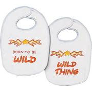 "Born To Be Wild Bib Pair Stamped Cross Stitch Kit, 7-1/2"" x 11"" Set Of 2"