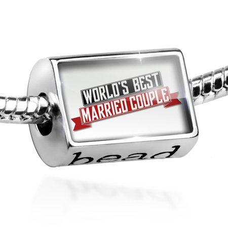 Bead Worlds Best Married Couple Charm Fits All European