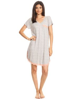 b01b1425e1 Product Image 301 Womens Nightgown Sleepwear Pajamas - Woman Sleeveless  Sleep Dress Nightshirt Gray L