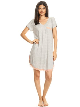 12b706c614 Product Image 301 Womens Nightgown Sleepwear Pajamas - Woman Sleeveless  Sleep Dress Nightshirt Gray L