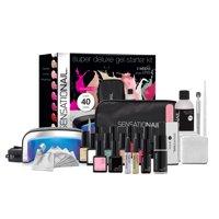 ($153 Value) SensatioNail Super Deluxe Manicure Set Gel Starter Kit with UV Lamp, 26 pcs