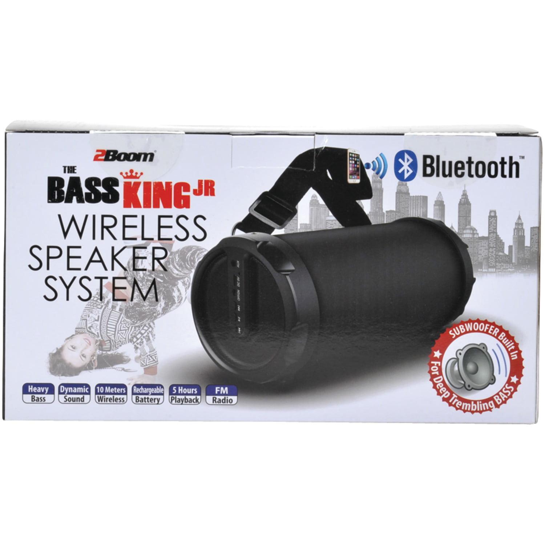 2BOOM BX320K The Bass King Jr  Bluetooth Speaker System (Black)