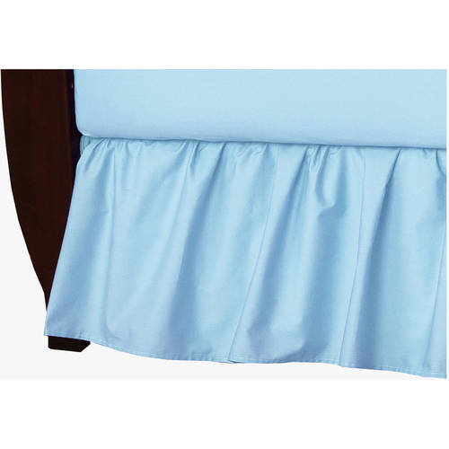 American Baby Company 100 Percent Cotton Percale Crib Bed Skirt, Gray