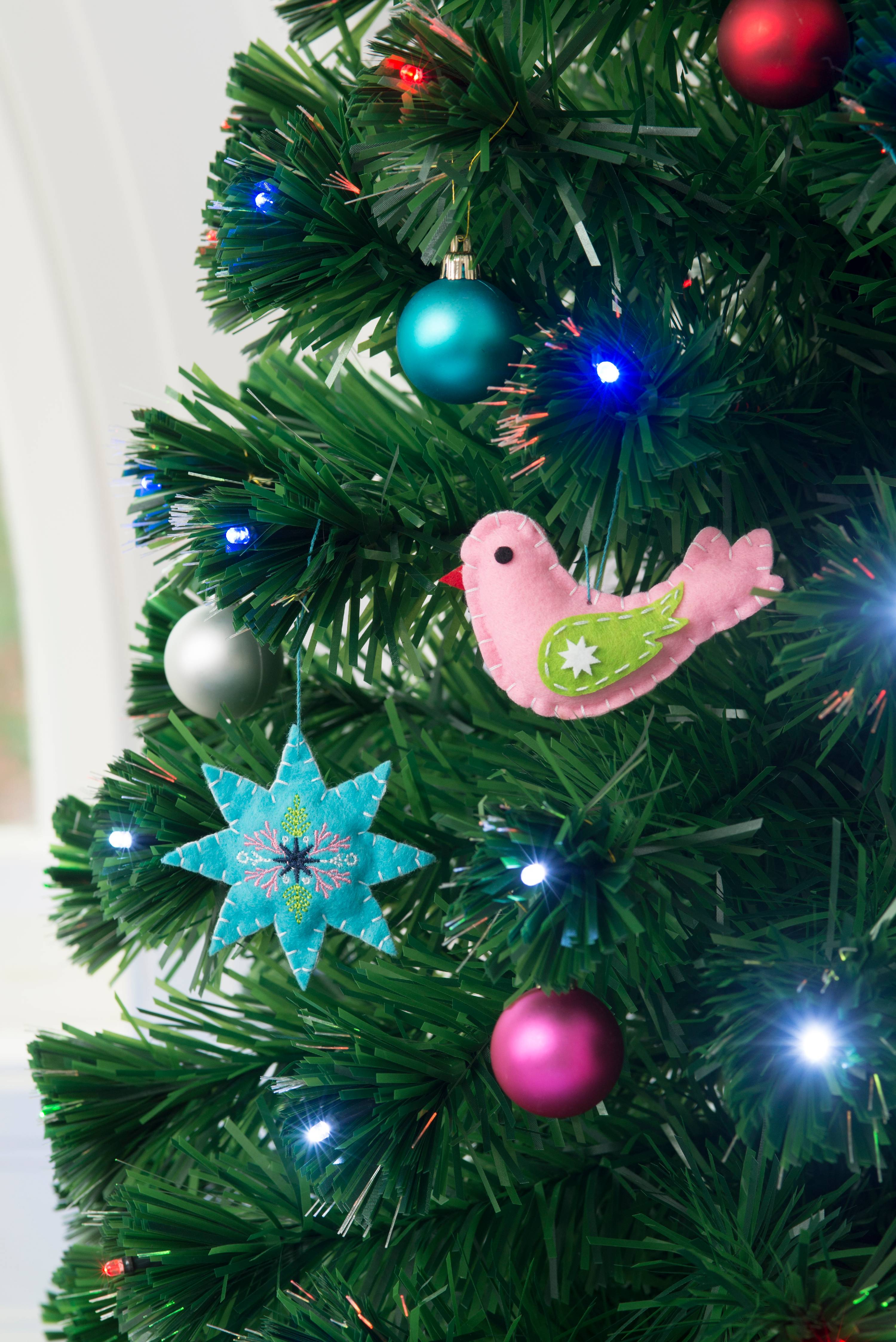 CF Collection Bird Christmas Tree Ornament Rose Gold with Glitter 4 Inches