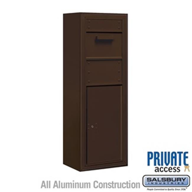 Salsbury 3812S-1CZF Single Column Surface Mounted 4C Horizontal Collection Box, Bronze - Front Access