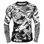 Fuji Musashi Long Sleeve MMA Rashguard - Black/White