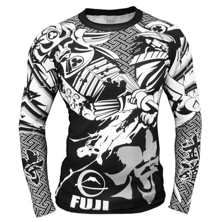 Fuji Musashi Long Sleeve MMA Rashguard - Black/White ()