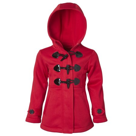 - Toggle Fleece Hooded Jacket (Little Girls)