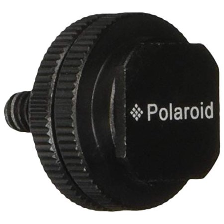 """Polaroid 1/4"""" Tripod Mount Screw to Flash Hot Shoe Adapter for Camera, Monitor, LED Lights & Other Accessories"""