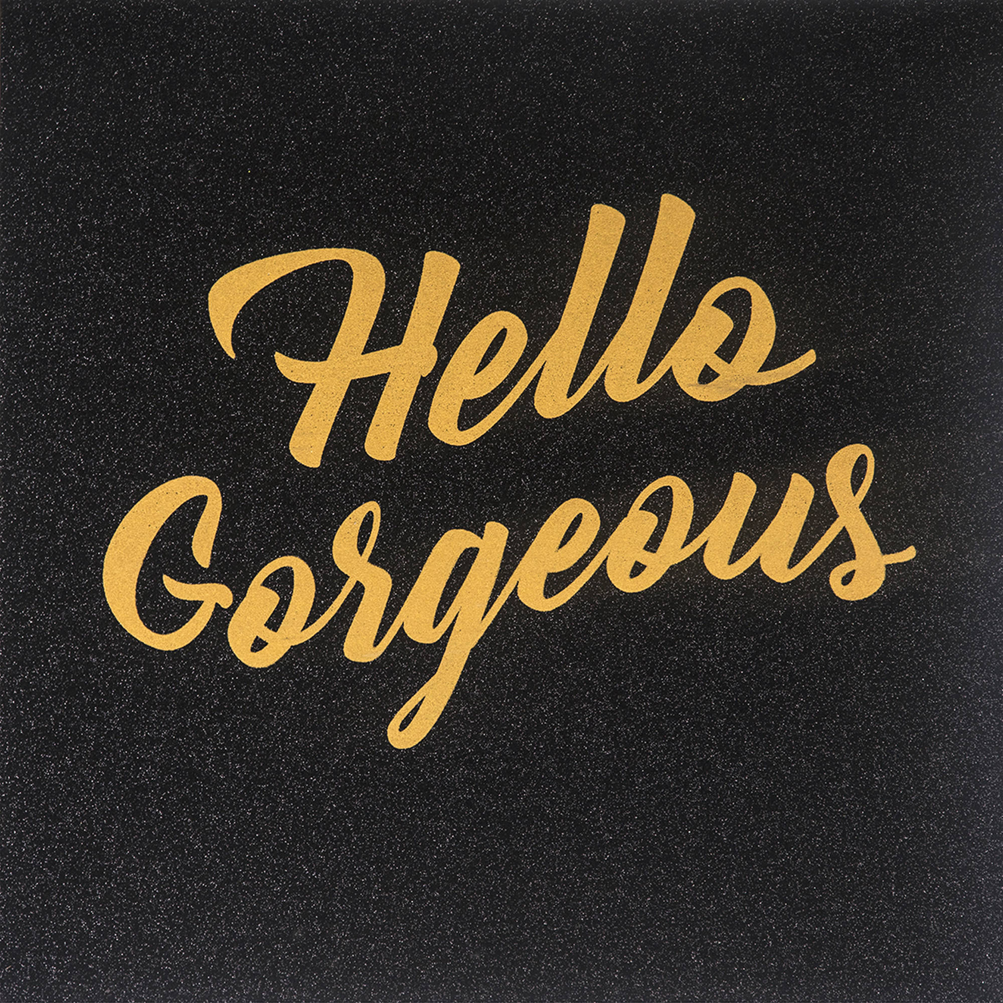 Hello Gorgeous Glitter Canvas Wall Art - 20 x 20 in.