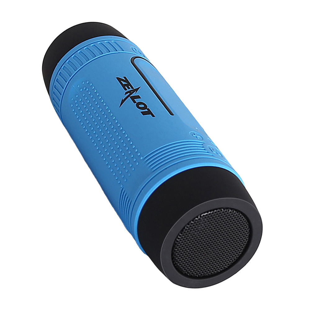 Portable Multifuctional Outdoor Bluetooth Wireless Speaker Sport Shockproof Dustproof Bluetooth Speakers Deep Bass Subwoofer Sound 4000mAh Battery TF Card Slot with Microphone (Red)
