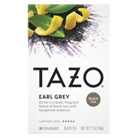Tazo, Earl Grey Black Tea, Tea Bags, 20 Ct