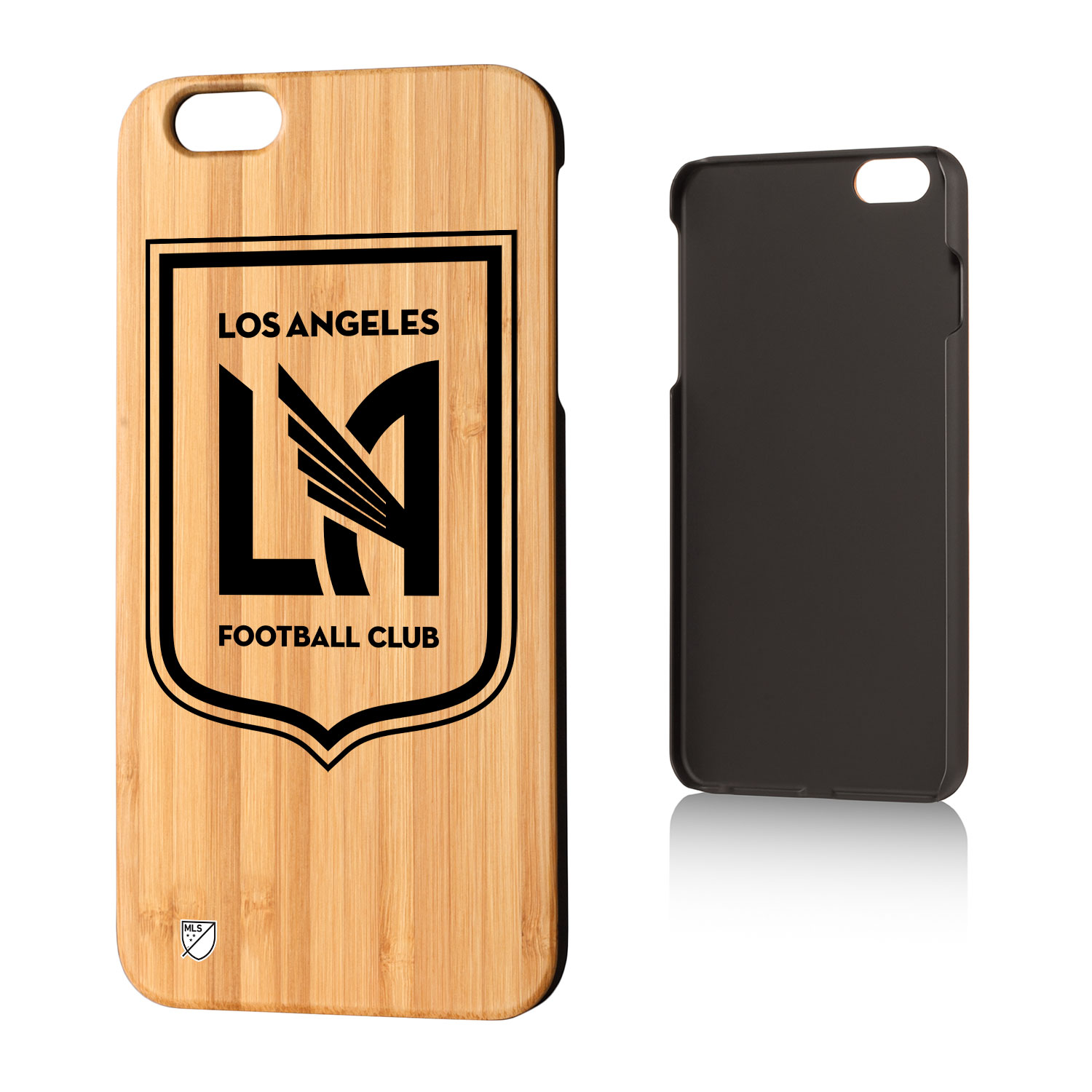 Los Angeles Footbal Club LAFC Insignia Bamboo Case for iPhone 6 Plus