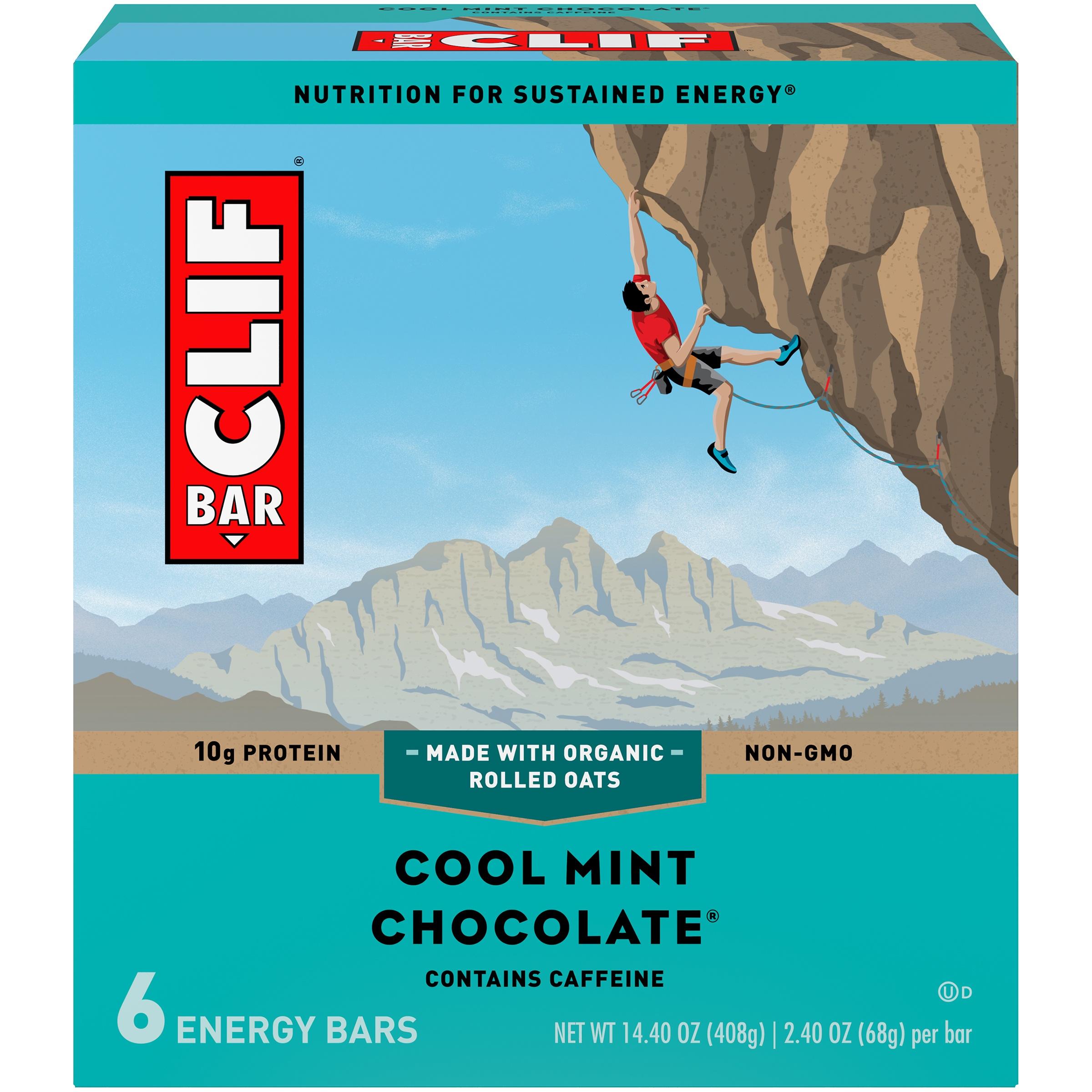 Clif Bar® Cool Mint Chocolate® Energy Bars 6-2.4 oz. Bars