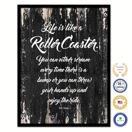 Life Is Like A Roller Coaster You Can Either Scream Every Time There
