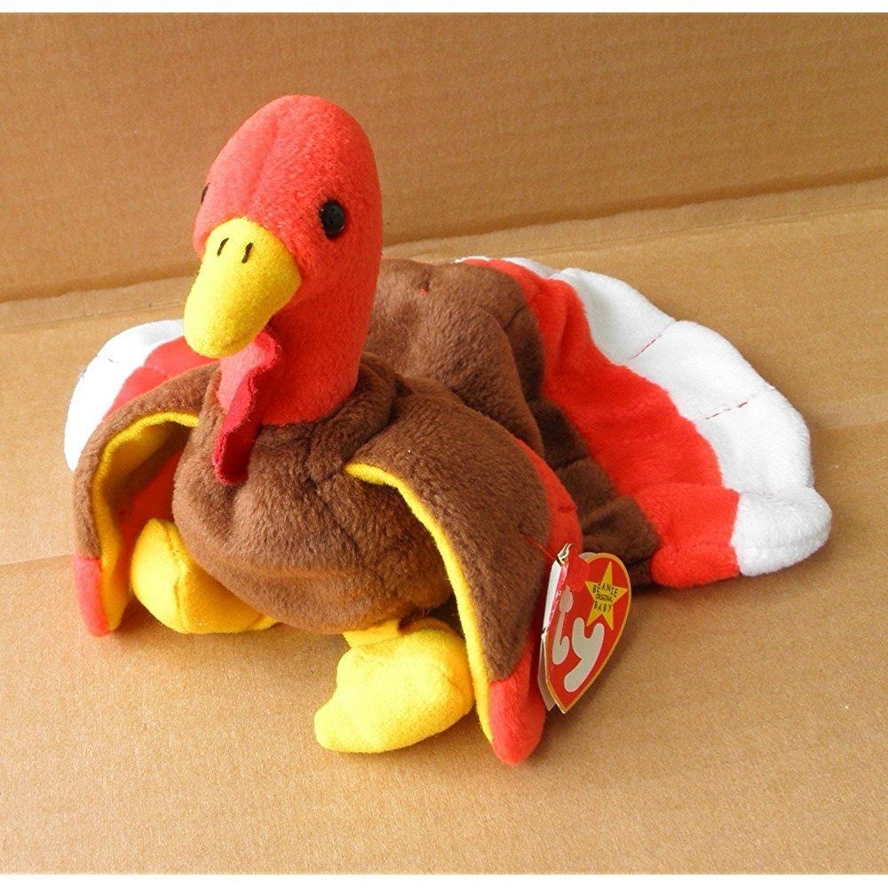 Ty Beanie Babies Gobbles The Turkey Stuffed Animal Plush Toy 7
