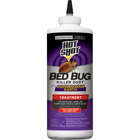 Hot Shot Bed Bug Killer Dust with Diatomaceous Earth, (Best Way To Use Diatomaceous Earth For Bed Bugs)