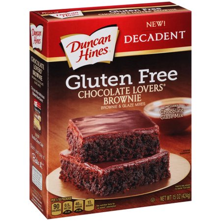 Duncan Hines Decadent Gluten Free Chocolate Lovers Brownie & Glaze Mixes, 15 oz - Halloween Chocolate Brownies