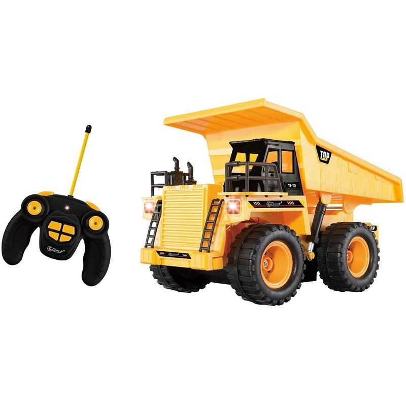 Top Race 5 Channel Fully Functional RC Dump Truck, Battery Powered Remote Control (TR-112)