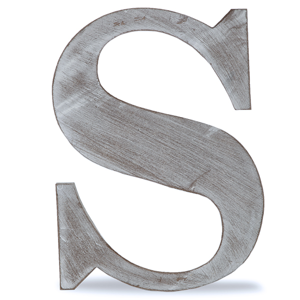 wooden block letters wood block letter s charcoal grey 14in walmart 25670