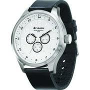 Columbia CA015 Skyline Mens Calfskin Leather Analog Multi-Function Wrist Watch