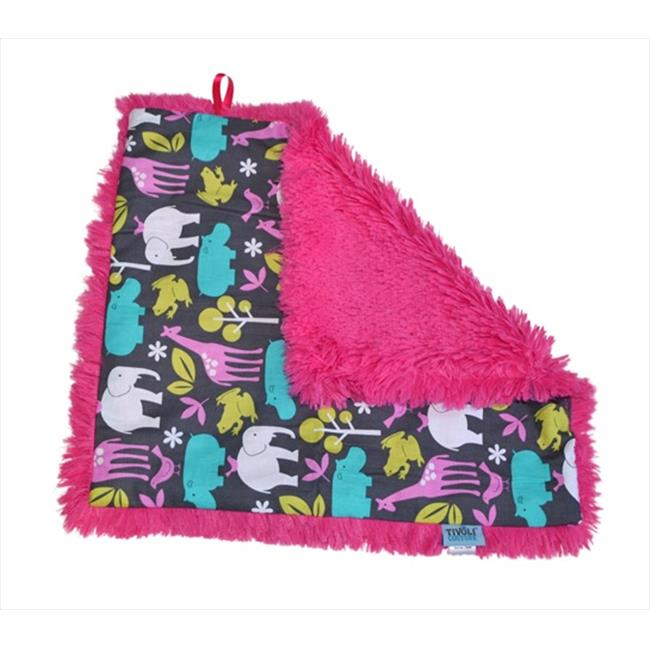 Tivoli Couture SLB 1091 Shag-e Lovie - Security Blanket, At the Zoo pink