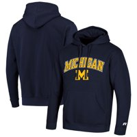 Men's Russell Athletic Navy Michigan Wolverines Classic Wordmark Pullover Hoodie