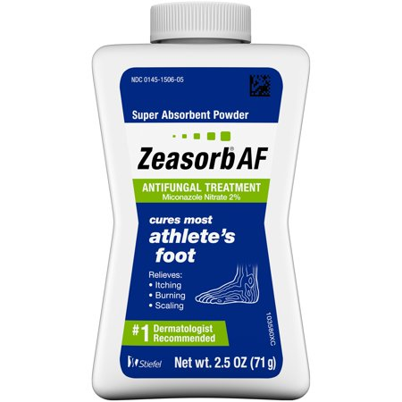 Zeasorb Athlete's Foot Antifungal Treatment Powder, Miconazole Nitrate 2%, 2.5 oz