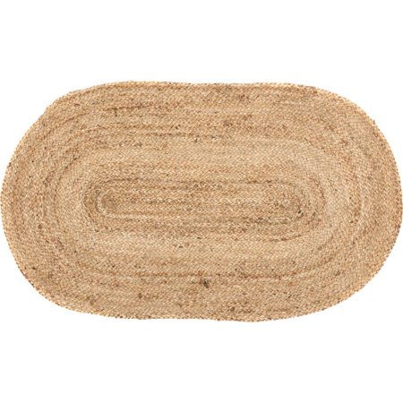 Braided Oval Quilt (Natural Tan Modern Farmhouse Rustic Coastal Kitchen Flooring braided Jute Oval Accent Area)