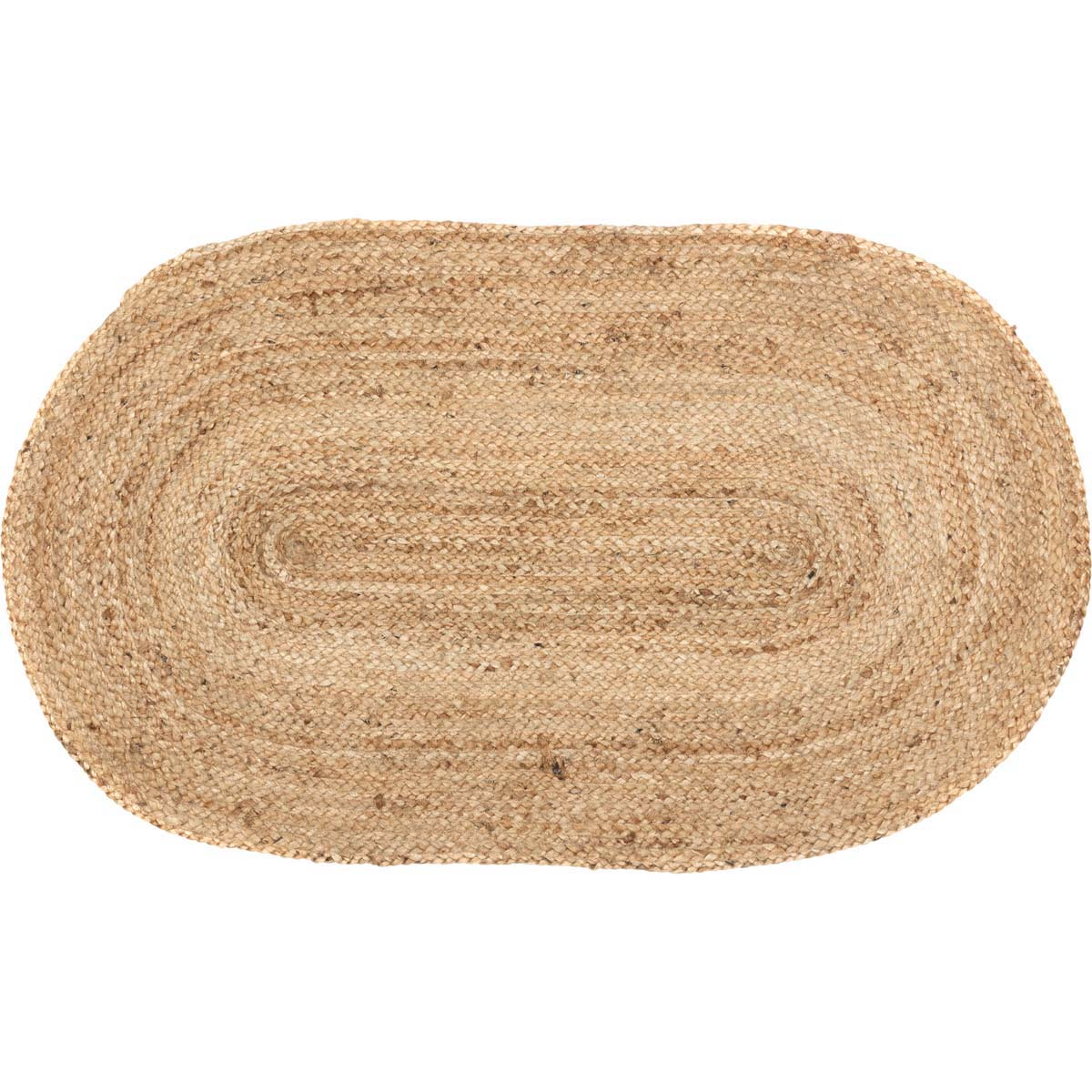 Natural Tan Modern Farmhouse Rustic Coastal Kitchen Flooring braided Jute Oval Accent Area Rug